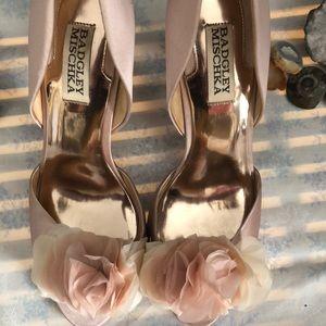Pink satin leather pumps Badgley Mischa